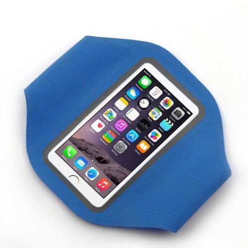 Sportowa opaska na ramię na telefon/klucze , niebieska marki Sunen