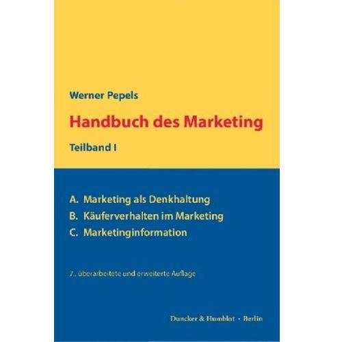 Handbuch des Marketing. Teilbd.1 Pepels, Werner