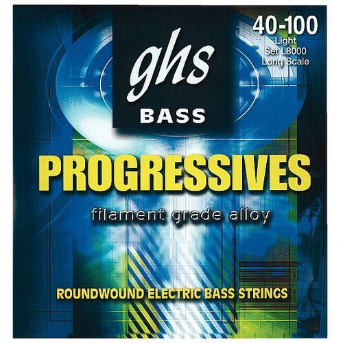 Ghs progressives struny do gitary basowej, 4-str. light,.040-.100