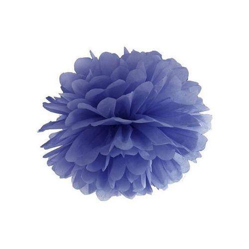 Dekoracja wisząca pompon kwiat - granatowa - 35 cm - 1 szt. marki Ap