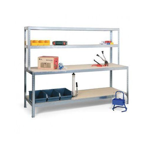 Stół do pakowania z półkami, długość 2000 mm