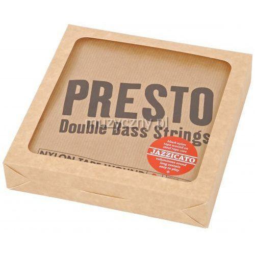 Presto jazzicato tungsten struny kontrabasowe black nylon / wolfram 3/4