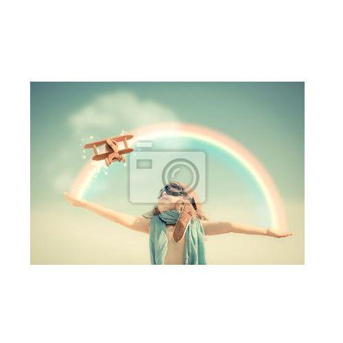 Fototapeta Wszystkiego najlepszego z okazji kid gry z samolotu zabawki, myloview z MyLoview