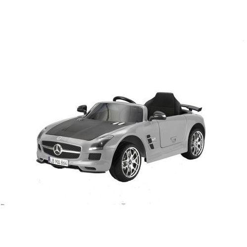 samochodzik dziecięcy - mercedes benz sls amg, szary marki Hecht