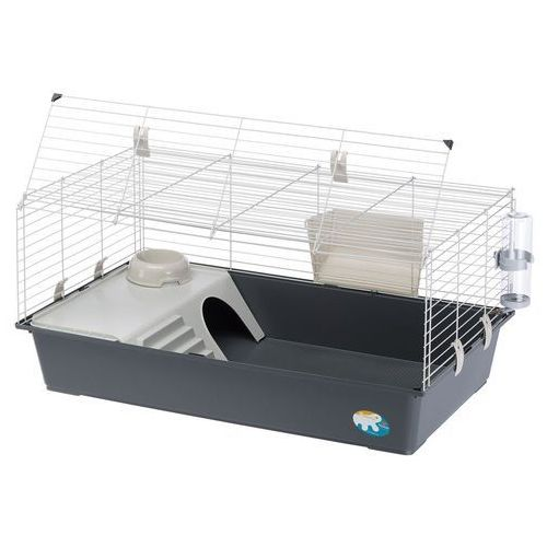 Ferplast rabbit 100 klatka dla królików i świnek - szara kuweta ok. dł. 97 x szer. 60 x wys. 45,5 cm| -5% rabat dla nowych klientów| dostawa gratis + promocje