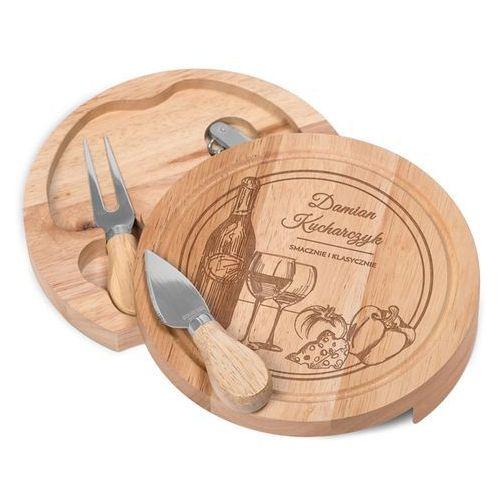 Deska do sera z grawerem smacznie i klasycznie dr121 marki Murrano