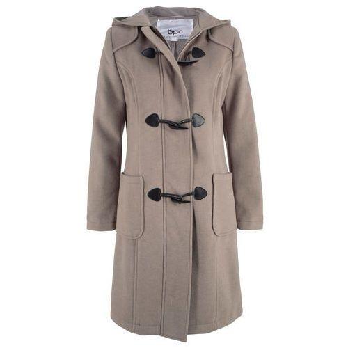 Płaszcz wełniany budrysówka brunatny marki Bonprix