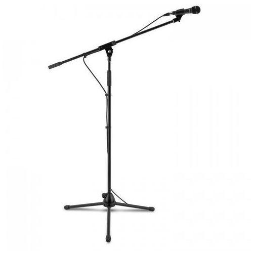 Auna Km 01 bk zestaw mikrofonowy 4-częściowy mikrofon stojak zacisk kabel 5m czarny