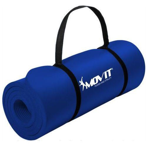 Movit ® Granatowa mata piankowa 190x60x1,5cm do ćwiczeń / gimnastyki / fitness - granatowy / 190x60x1,5 cm