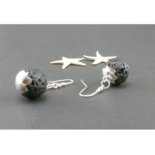 Kolczyki - Lawa w srebrze, produkt marki Talent-ART