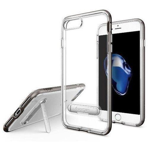 Zestaw   Spigen SGP Crystal Hybrid Gunmetal   Obudowa + Szkło ochronne Perfect Glass dla modelu Apple iPhone 7 Plus