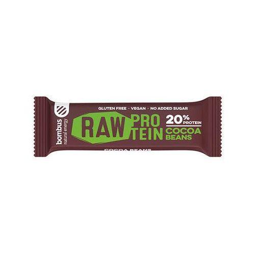 Baton raw protein z ziarnami kakaowca bezglutenowy 50g BOMBUS (8594068261135)