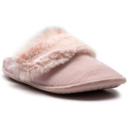Crocs Kapcie - classic luxe slipper 205394 rose dust