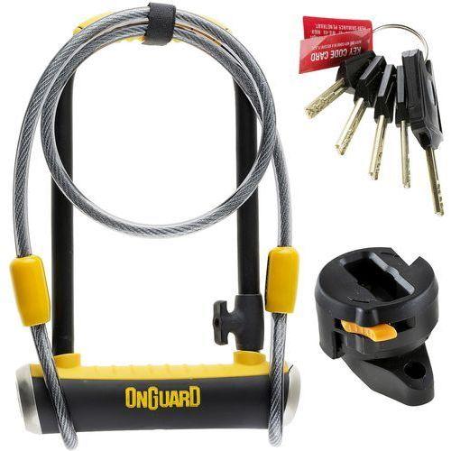 Zapięcie U-lock ONGUARD Pitbull Mini LS 8007DT z linką czarny-żółty / Rozmiar: 120 cm 9 x 24 cm (7290001280874)