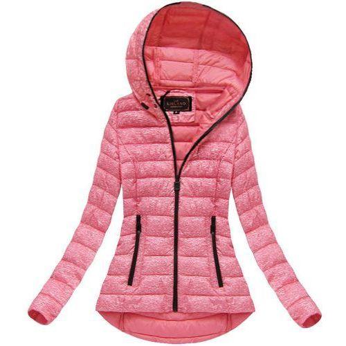 ba645f2a04c1c Pikowana kurtka z kapturem różowa (7149big) - różowy marki Libland 119,90 zł  Pikowana kurtka wiosenno - jesienna z kapturem.
