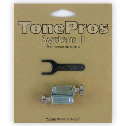 Tonepros vnm1-n - g-style locking studs, części mostka do gitary, niklowane