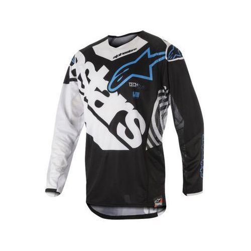 Koszulka alpinestars techstar venom s8 black/wh/aq marki Alpinestars mx