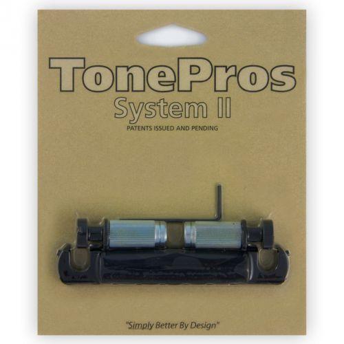 Tonepros t1zsa-b - tailpiece, części mostka do gitary, czarne