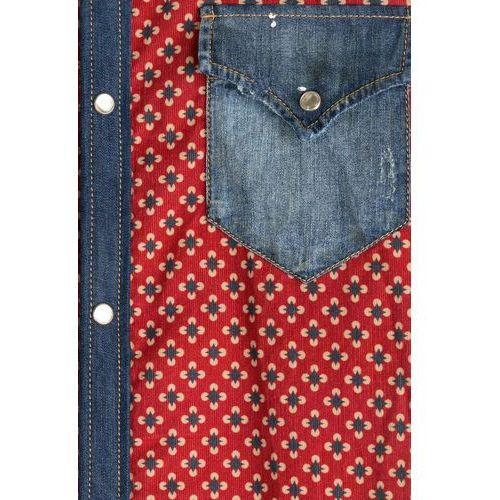 Printed Cotton Shirt with Denim Gr. EU 46, Dsquared2