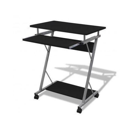 Biurko komputerowe z ruchomą podstawką na klawiaturę (Czarne) - sprawdź w VidaXL