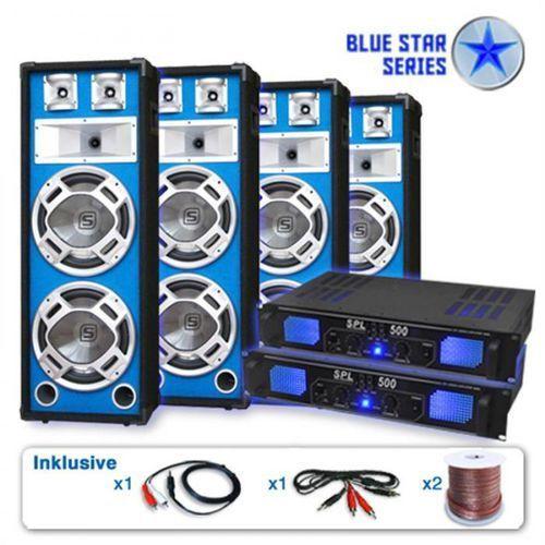 """Zestaw pa blue star seria """"bassveteran quadro"""" 3200 w marki Elektronik-star"""