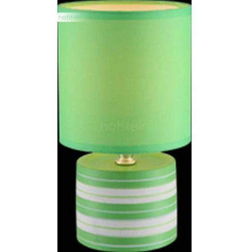 LAMPKA biurkowa LAURIE 21662 Globo abażurowa LAMPA stołowa IP20 okrągły paski zielony, 21662