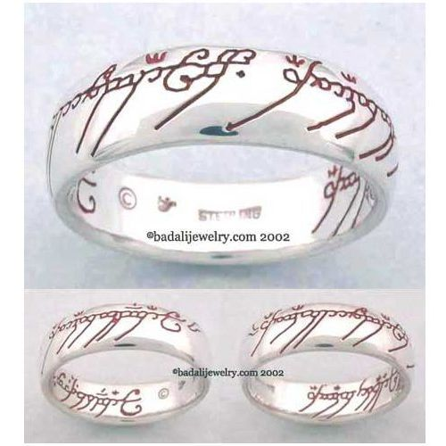 Sterling Silver The One Ring Red (ORS-03)