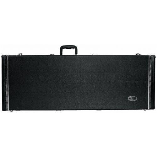 rc 10627 b/sb futerał do gitary elektrycznej typu strat, prostokątny, czarny marki Rockcase