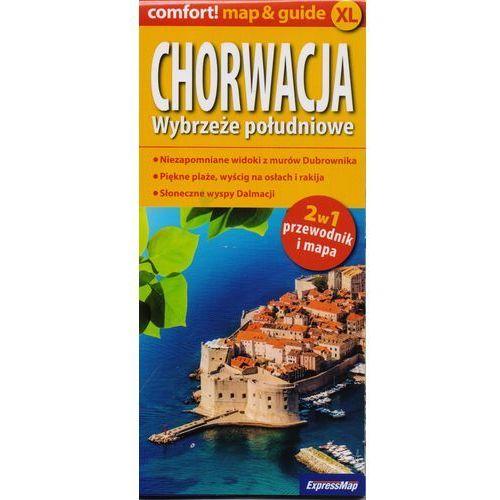 Chorwacja. Wybrzeże południowe. Mapa samochodowa. Przewodnik i mapa. 2w 1 + zakładka do książki GRATIS