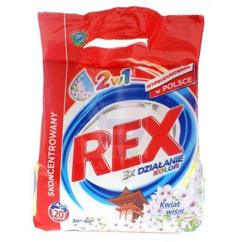 REX Proszek do Prania 1,5 kg 3xDziałanie Kolor Kwiat Wiśni 2w1 (proszek do prania ubrań)