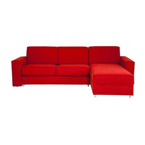 Kare Design Mono Ottoman Czerwony Narożnik Rozkładany Prawy Tkanina - 79421 - oferta [d54bd3a84fa33446]