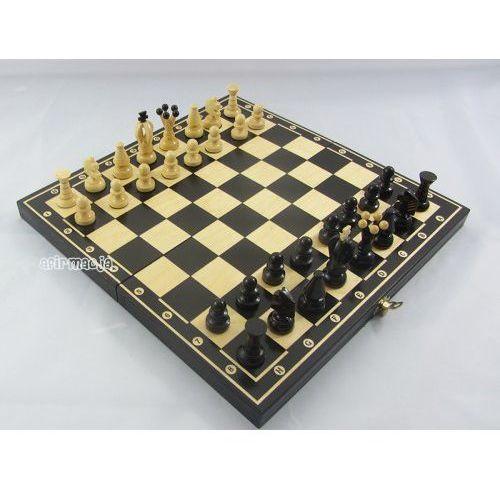 Magiera Duże szachy + warcaby drewniane