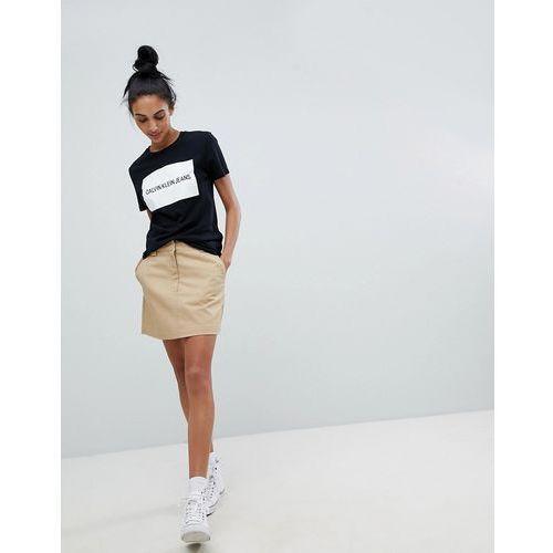 Calvin Klein Jeans A Line Skirt - Beige
