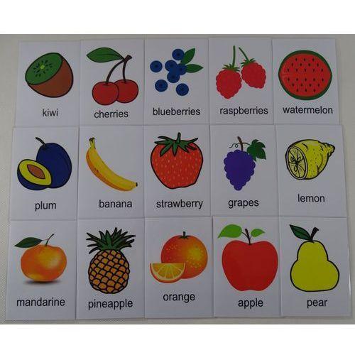 Owoce karty edukacyjne - wersja w j. angielskim