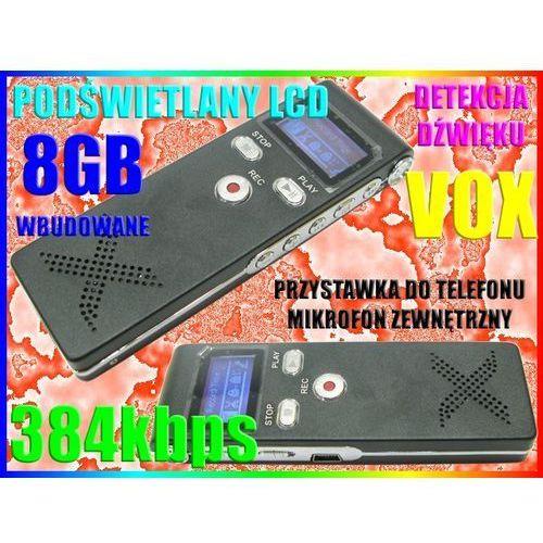 DYKTAFON CYFROWY VOX DET. DŹWIĘKU VOX PODSŁUCH 8GB, Sklep-Szpiegowski.PL