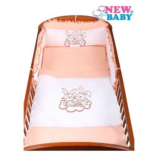 3-częściowy zestaw pościeli do łóżeczka New Baby Bunnies 100/135 pomarańczowy