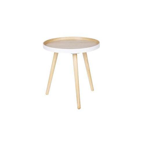 Woood Stolik kawowy SASHA drewniany 40x40cm - Woood 375426-N