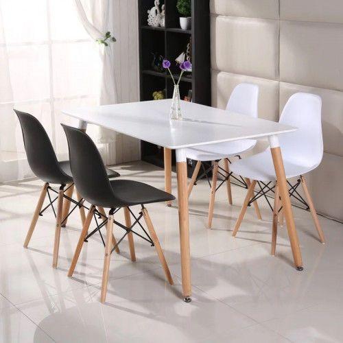 Meblemwm Zestaw stół skandynawski em10 + 4 krzesła em03 (9999001149805)