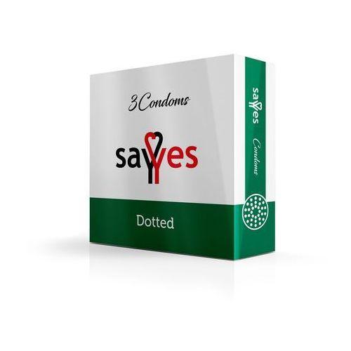Sayyes Dotted - prezerwatywy kropkowane z środkiem nawilżającym