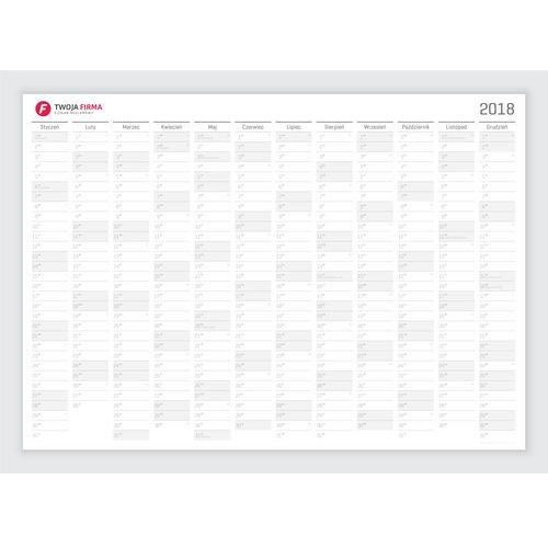 Planer kalendarz ścienny 2018 suchościeralny 141x100 B0 z twoim logo samoprzylepny