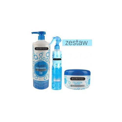 zestaw kolagenowy szampon 1000ml odżywka 400ml maska 500ml marki Morfose