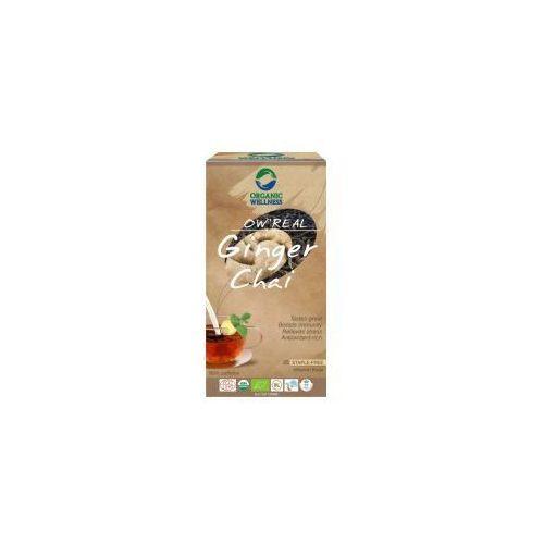 Organic wellness Herbata ginger chai saszetki 25szt.