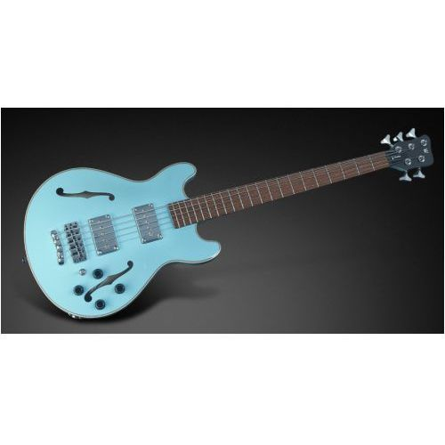Rockbass star bass 5-str. solid daphne blue high polish, passive, fretted gitara basowa