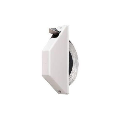 Jarolift Miniaturowy zwijacz natynkowo-podtynkowy, z taśmą o dł. 5 m, biały (4251043604137)