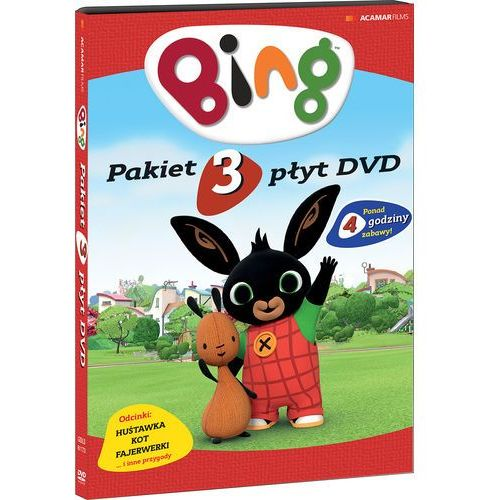 Nicky phelan, jeroen jaspart Bing. pakiet 3 płyt dvd: huśtawka, kot, fajerwerki (3 dvd) (płyta dvd) (7321997611738)