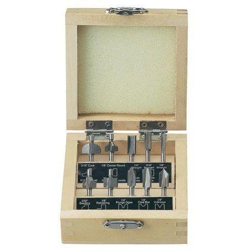 Zestaw 10 frezów Toolcraft ze stali HSS w drewnianym pudełku - produkt z kategorii- frezy