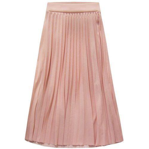 Made in italy Plisowana spódnica midi pudrowy róż (140art) - różowy