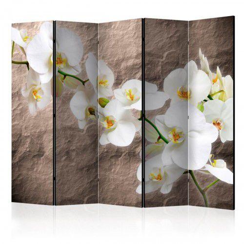 Parawan 5-częściowy - nieskazitelność orchidei ii [room dividers] marki Artgeist