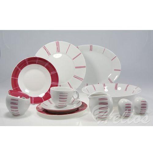 ĆMIELÓW: Serwis obiadowo-kawowy na 6 osób - QUEBEC E-764 Zegar - sprawdź w Helos-Szkło