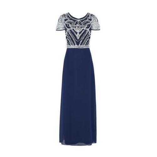 Boohoo Suknia wieczorowa 'BOUTIQUE FRANCESCA' granatowy / biały, kolor niebieski